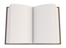 Open book isolated on white background. Top view. 3d. Royalty Free Stock Photo