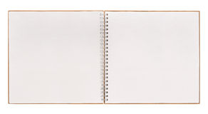 Open book isolated on white. notebook with spiral binder Stock Photos