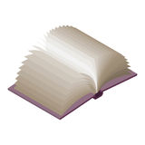 Open book Isometric on white background. Paging. Royalty Free Stock Photo