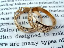 The open book and jewelry Royalty Free Stock Photo