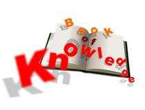Open book and knowledge Royalty Free Stock Photography