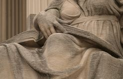 """Open Book On The Lap Of Robert Ingersoll Aitken's """"Future,"""" On The North Side Of The National Archives (Washin Royalty Free Stock Photography"""
