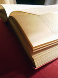 Open book, lateral Detail royalty free stock photography