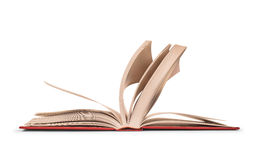 An open book with the leaves in motion Royalty Free Stock Image