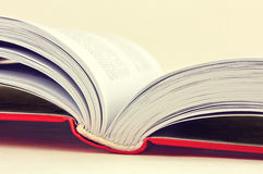 Open book on light background Stock Image