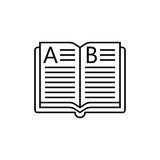 Open book line icon, education and school element Stock Photography