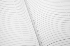 Open book with lines. Macro Royalty Free Stock Photography