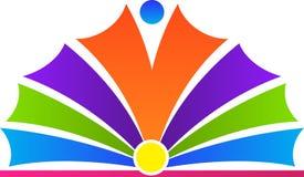 Open book logo. A vector drawing represents open book logo design Royalty Free Stock Photos