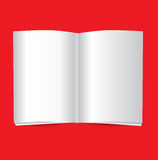Open book or magazine mockup Royalty Free Stock Images
