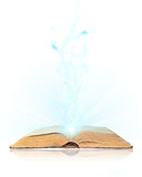 Open book magic Stock Photos
