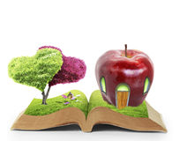 Open book of nature Royalty Free Stock Image