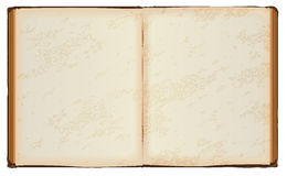 Open book with old blank pages Royalty Free Stock Photo