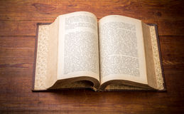 Open Book on old wood background Royalty Free Stock Photography