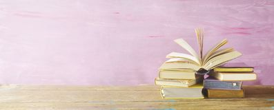 Free Open Book On A Stack Of Books, Stock Photography - 109015262