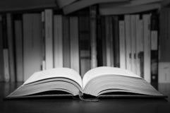 Open book. An open book on a desktop Royalty Free Stock Photos