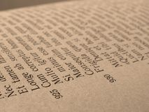 Open book page Royalty Free Stock Image