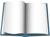 Open Book Page Turn Copyspace Background Stock Photo