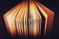 Open Book Pages Stock Image