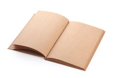 Open book paper blank rough texture Stock Photography