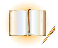 Open book with a pen Royalty Free Stock Image