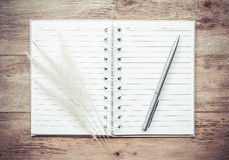 Open book and pen ,business project writing Stock Photography