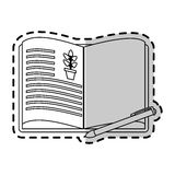 Open book with plant drawing  icon image Royalty Free Stock Photos