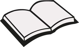 Open book vector. Open book reading education vector Stock Photography