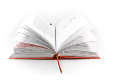 Open book with red cover Stock Image