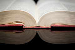 Open Book Reflection Royalty Free Stock Photos