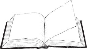 Open book - rough vector illustration. A large open book - a rough vector illustration Stock Photography