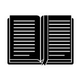 Open book school learning library pictogram Royalty Free Stock Photography
