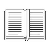 Open book school learning library thin line. Vector illustration eps 10 vector illustration