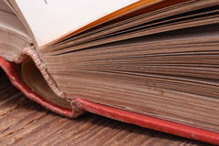 Open book with selective focus Royalty Free Stock Image
