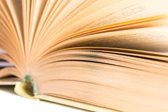 Open book with selective focus  Royalty Free Stock Photo