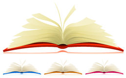 Open Book Set Royalty Free Stock Photography