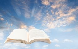 Open book in sky Royalty Free Stock Photography