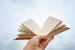 Open book in the sky Royalty Free Stock Photo