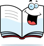 Open Book Smiling. A cartoon open book smiling and happy Royalty Free Stock Photos