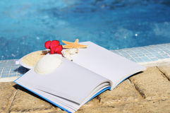 Open book and spa spirit Royalty Free Stock Photo