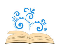 An open book with spiral ornament Stock Photography