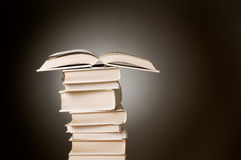 Open book on a stack Royalty Free Stock Image