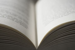 Open book with swallow depth of field Royalty Free Stock Photo