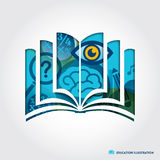 Open book symbol education concept illustration Royalty Free Stock Images