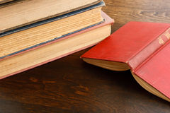 Open Book On Table Royalty Free Stock Image