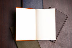 Open book on table Stock Photography