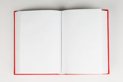 Open book on table. Back to school. Copy space. Top view Royalty Free Stock Photos