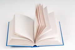 Open book on table. Back to school. Copy space. Top view Stock Photography