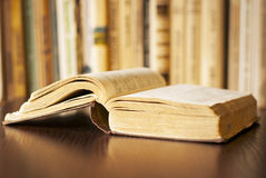 Open book on the table royalty free stock photo