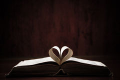 Open Book On Table Royalty Free Stock Images