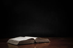 Open Book On Table Royalty Free Stock Photography